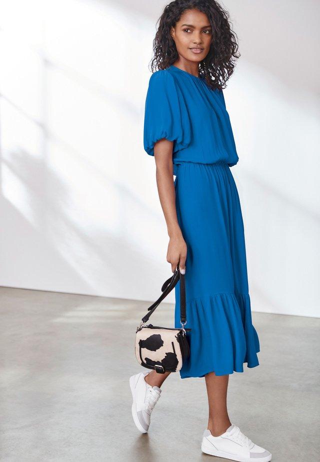 BUTTON DETAIL - Day dress - blue