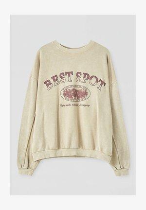 BEST SPOT - Sweatshirts - mottled beige