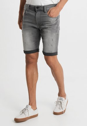 3301 Slim - Szorty jeansowe - slander grey superstretch