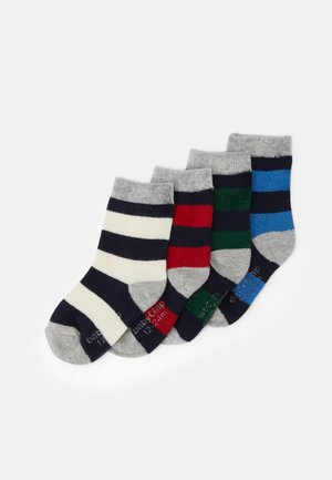 TODDLER BOY CREW SOCK 4 PACK - Ponožky - milk