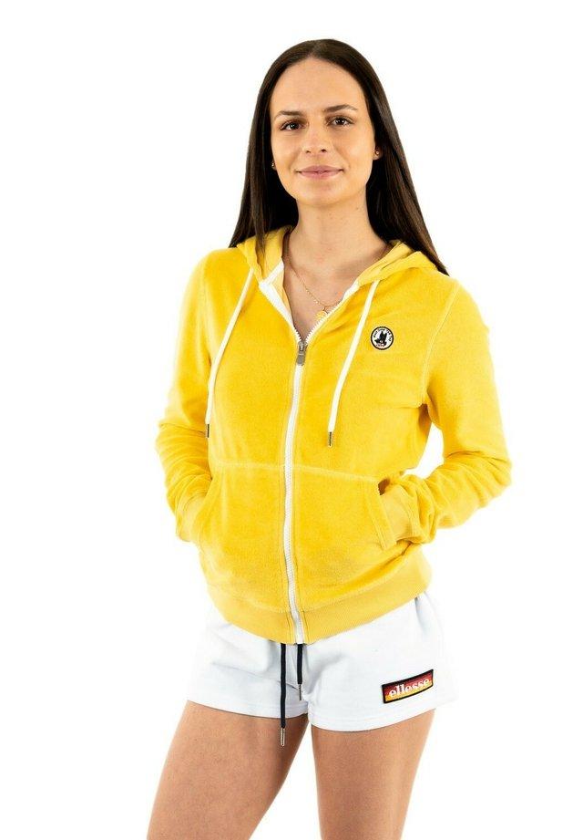 veste en sweat zippée - jaune