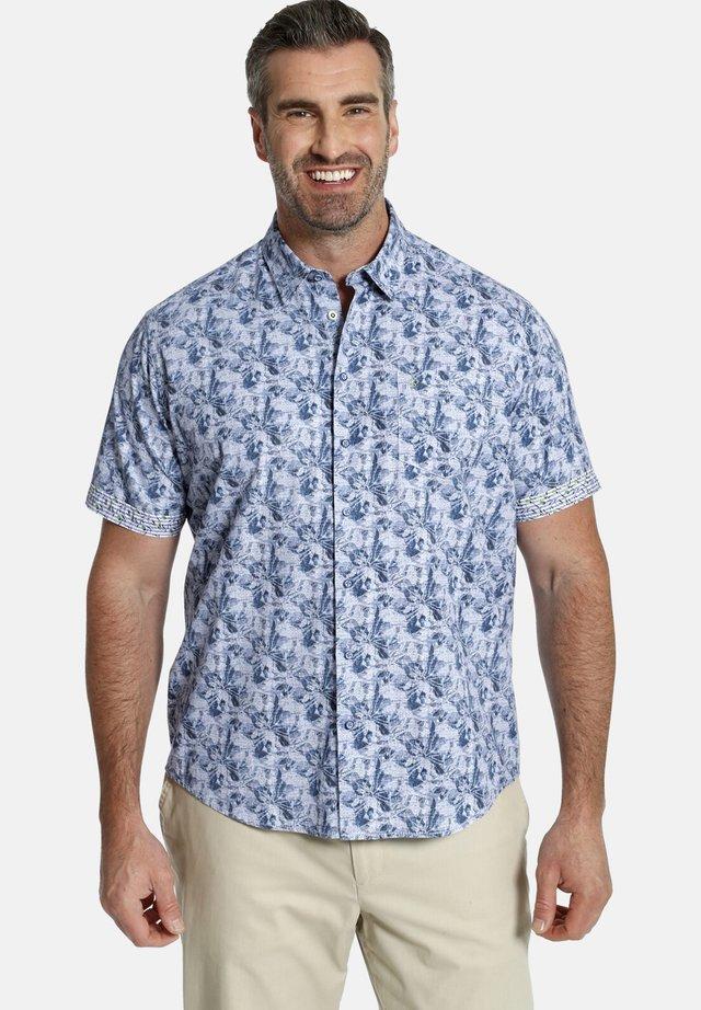 DUKE TERENCE - Shirt - blau gemustert