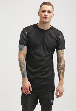 Print T-shirt - black/black