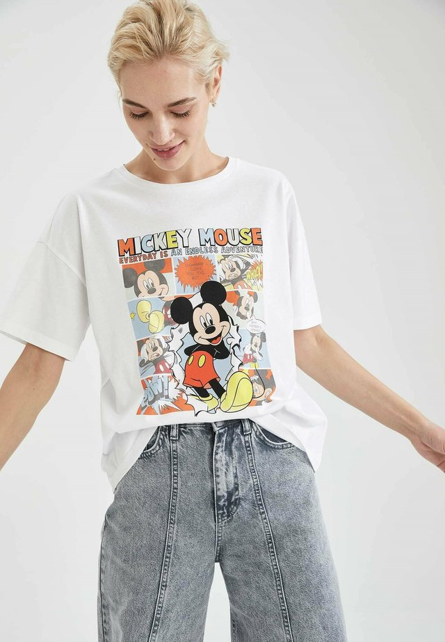 DISNEY - T-shirt con stampa - white