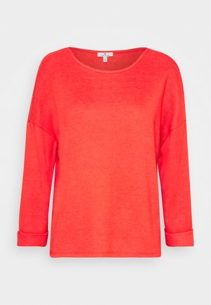 WIDE CREW NECK - Svetr - strong red