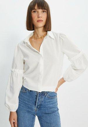 Button-down blouse - cream