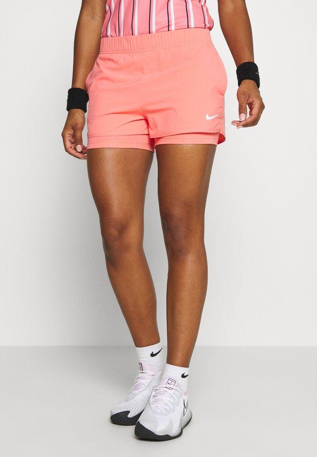 FLEX - Sports shorts - sunblush/white