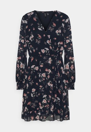 VMZALLIE WRAP DRESS - Day dress - navy blazer/zallie