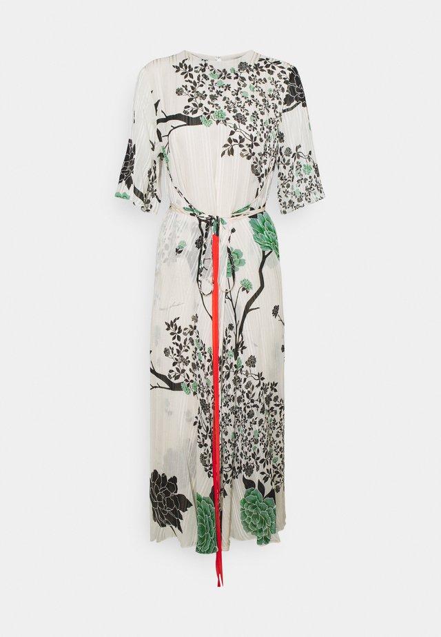 PRINTED TIE FRONT DRESS - Korte jurk - cream