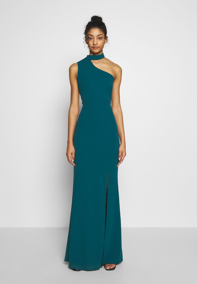 HALTER NECK WITH STRAP DRESS - Vestido de fiesta - teal blue