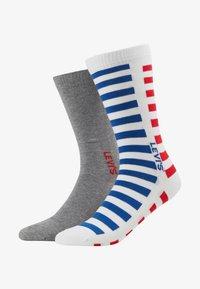 Levi's® - MEN REGULAR CUT SPLICED STRIPE - Chaussettes - white/blue/red - 1