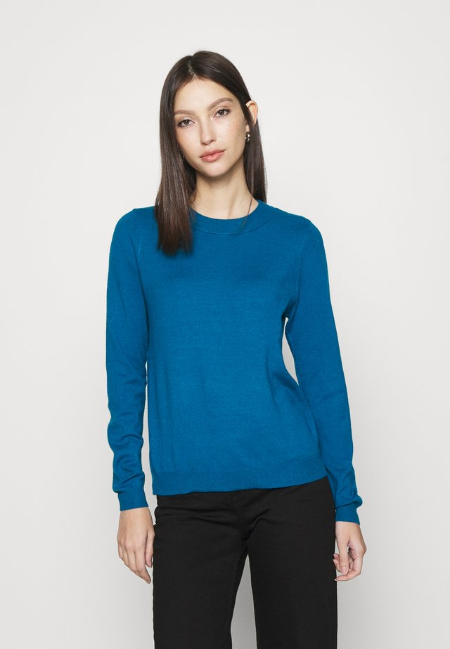 VMHAPPINESS O NECK BOO - Sweter - mykonos blue