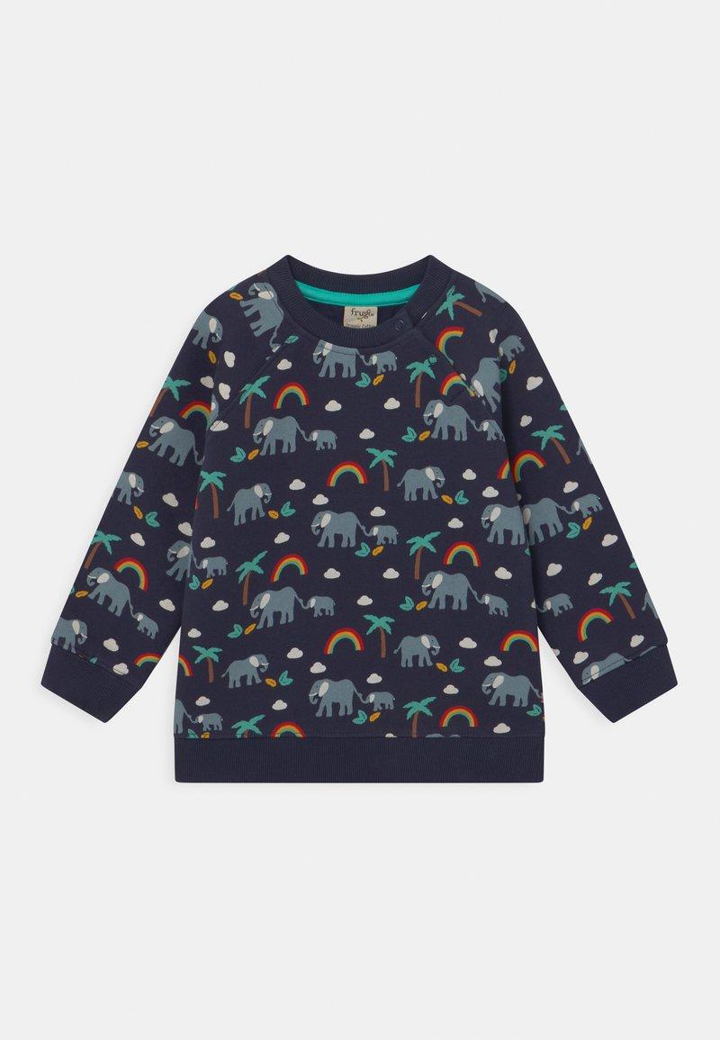 Frugi - REX RAINBOW AND ELEPHANT UNISEX - Sweatshirt - indigo