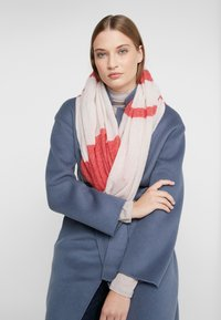 CLOSED - MIX COLOUR BLOCK SCARF - Scarf - peony - 0