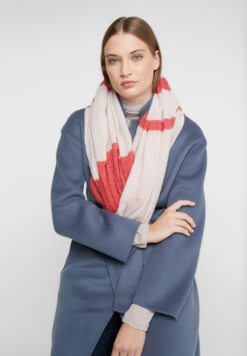 CLOSED - MIX COLOUR BLOCK SCARF - Scarf - peony