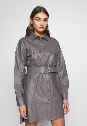 OVERSIZE DRESS - Shirt dress - grey