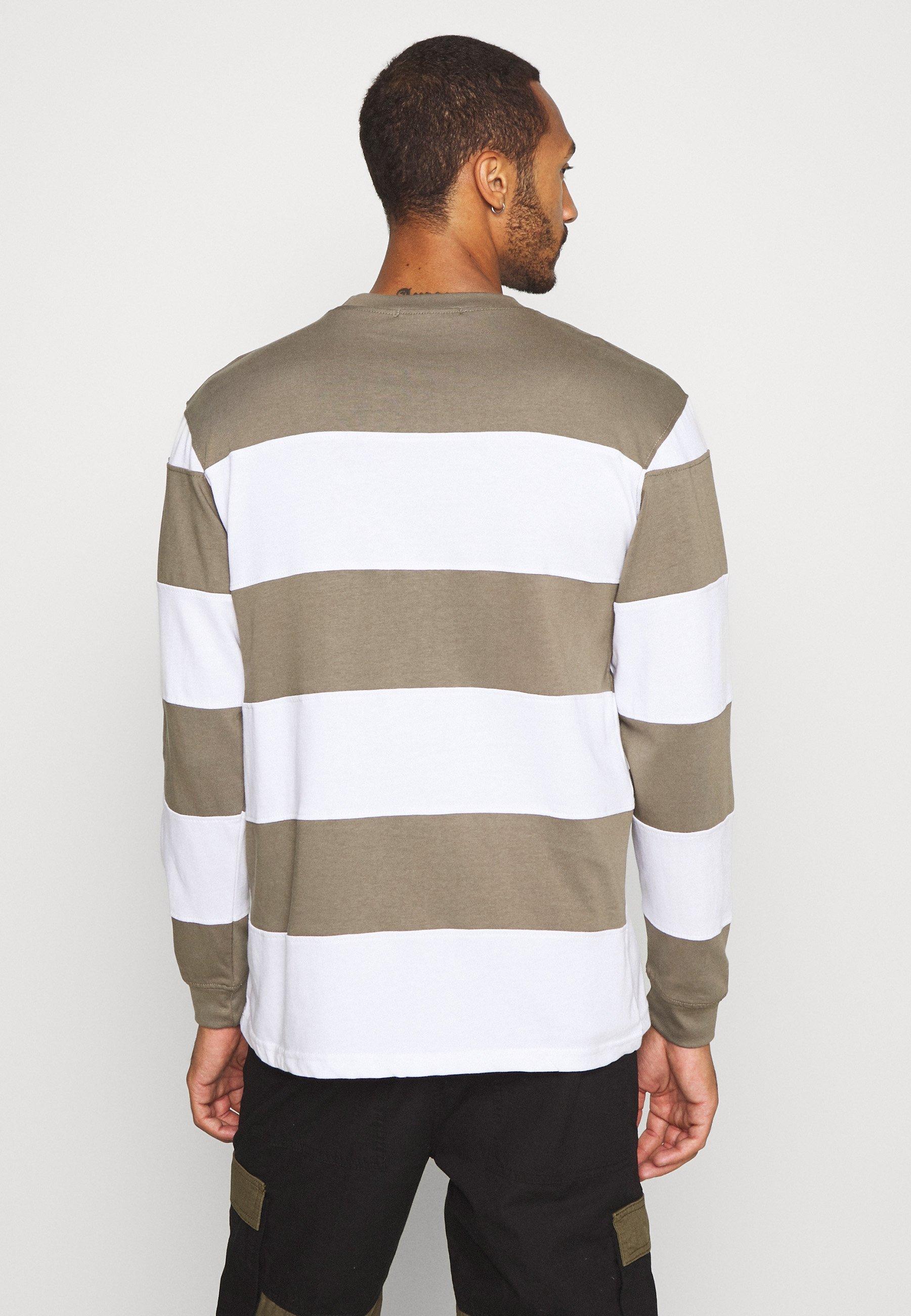 Mennace PANELLED STRIPE - Long sleeved top - khaki GPYWn