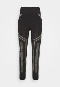 EVOSTRIPE EVOKNIT - Leggings - black