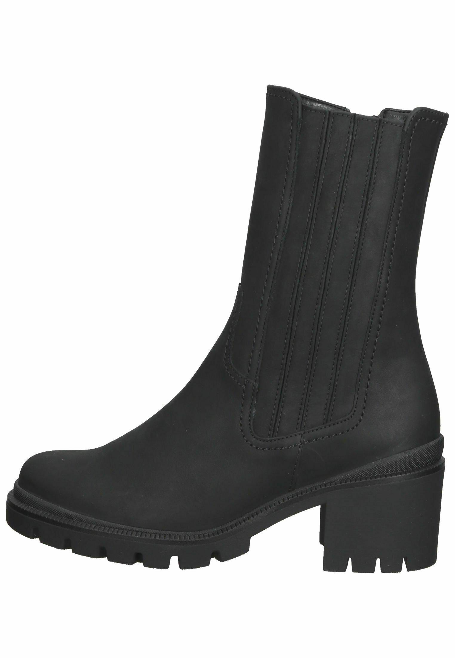 Damen Stiefelette - schwarz (flausch)