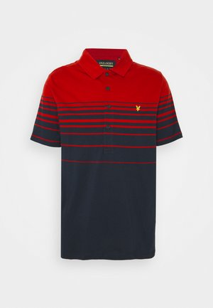 PLACEMENT STRIPE RELAXED FIT - Pikeepaita - chilli pepper red/dark navy
