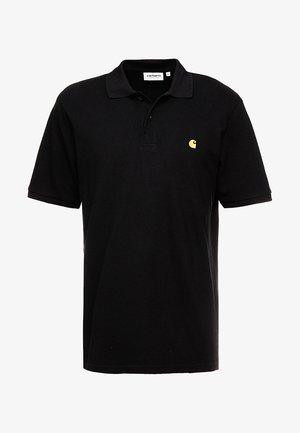 CHASE - Polo shirt - black/gold
