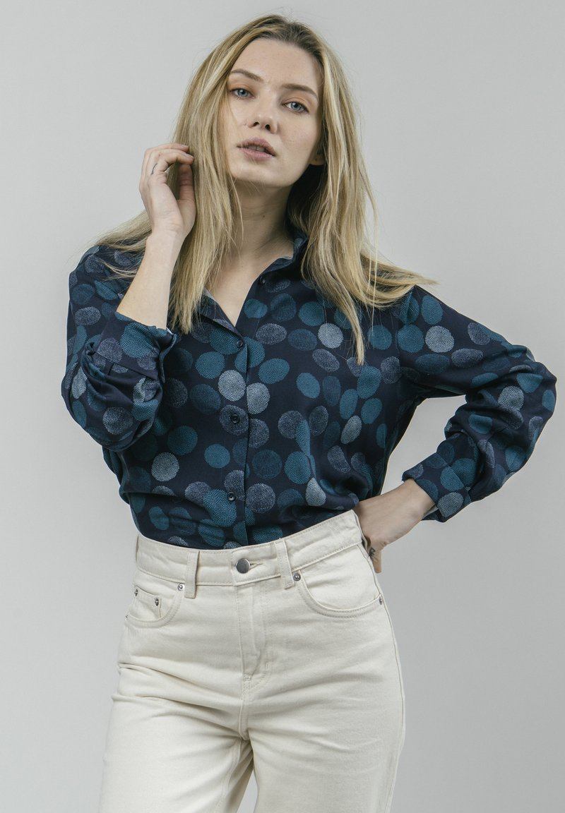 Brava Fabrics - HANA BLOOM - Button-down blouse - blue