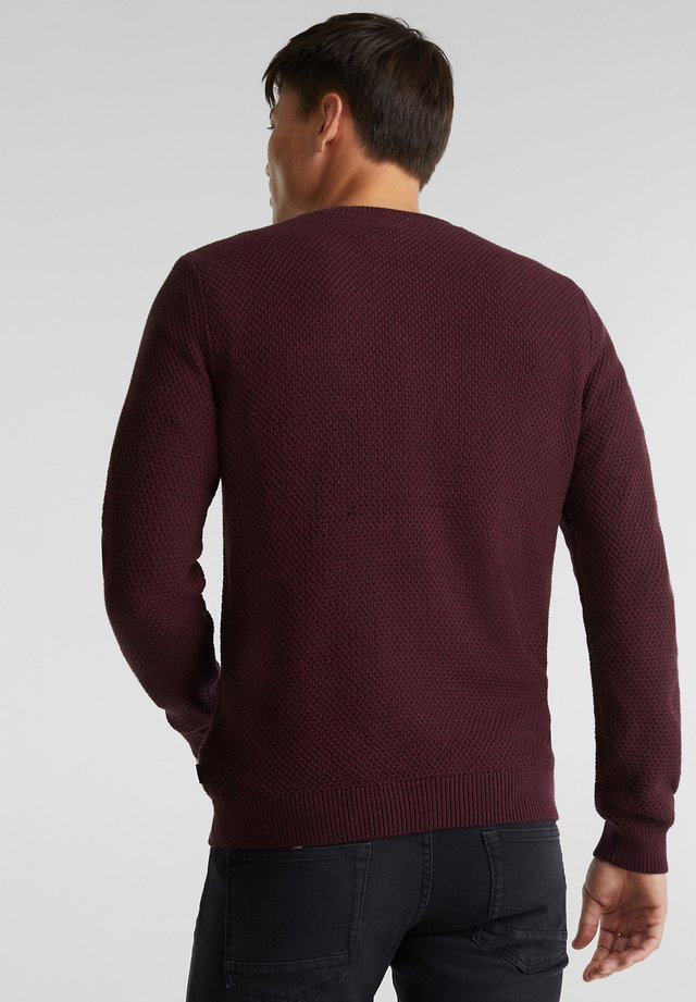Strikpullover /Striktrøjer - bordeaux red
