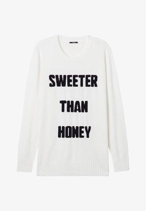MIT SCHRIFTZUG - Sweatshirt - schwarz-milk white/black