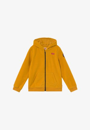 LOGO PATCH FULL ZIP - Fleece jacket - golden yellow