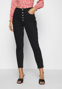 Abercrombie & Fitch - SHANK CURVE - Jeans Skinny Fit - black - 0