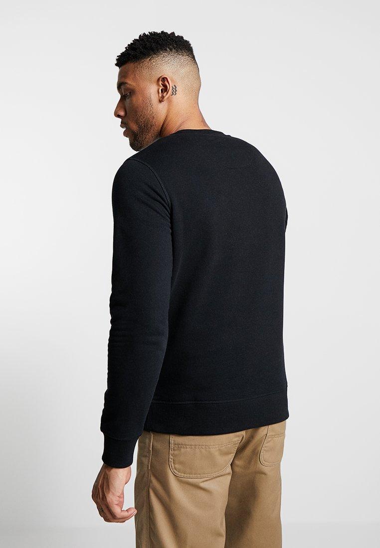 Jack & Jones - JJECHEST LOGO CREW NECK - Sweatshirt - black