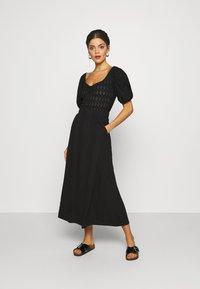 Object Tall - OBJCELIA LONG SKIRT TALL - Maxi skirt - black - 1