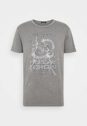 Printtipaita - light grey