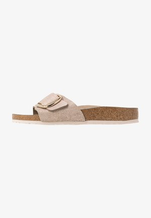 MADRID BIG BUCKLE - Kapcie - washed metallic/rose gold