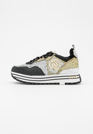 MAXI  - Sneakers laag - black/gold/silver