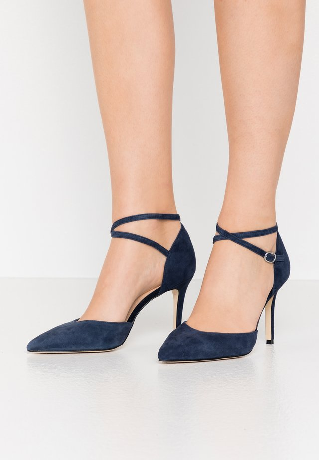 LEATHER PUMPS - High heels - dark blue