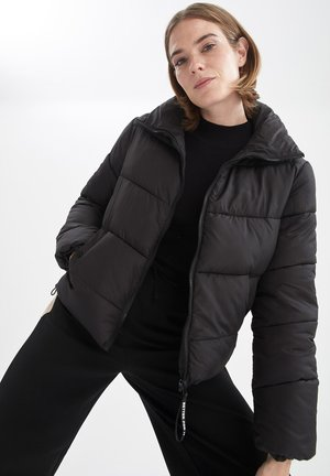 REGULAR FIT  - Winter jacket - black