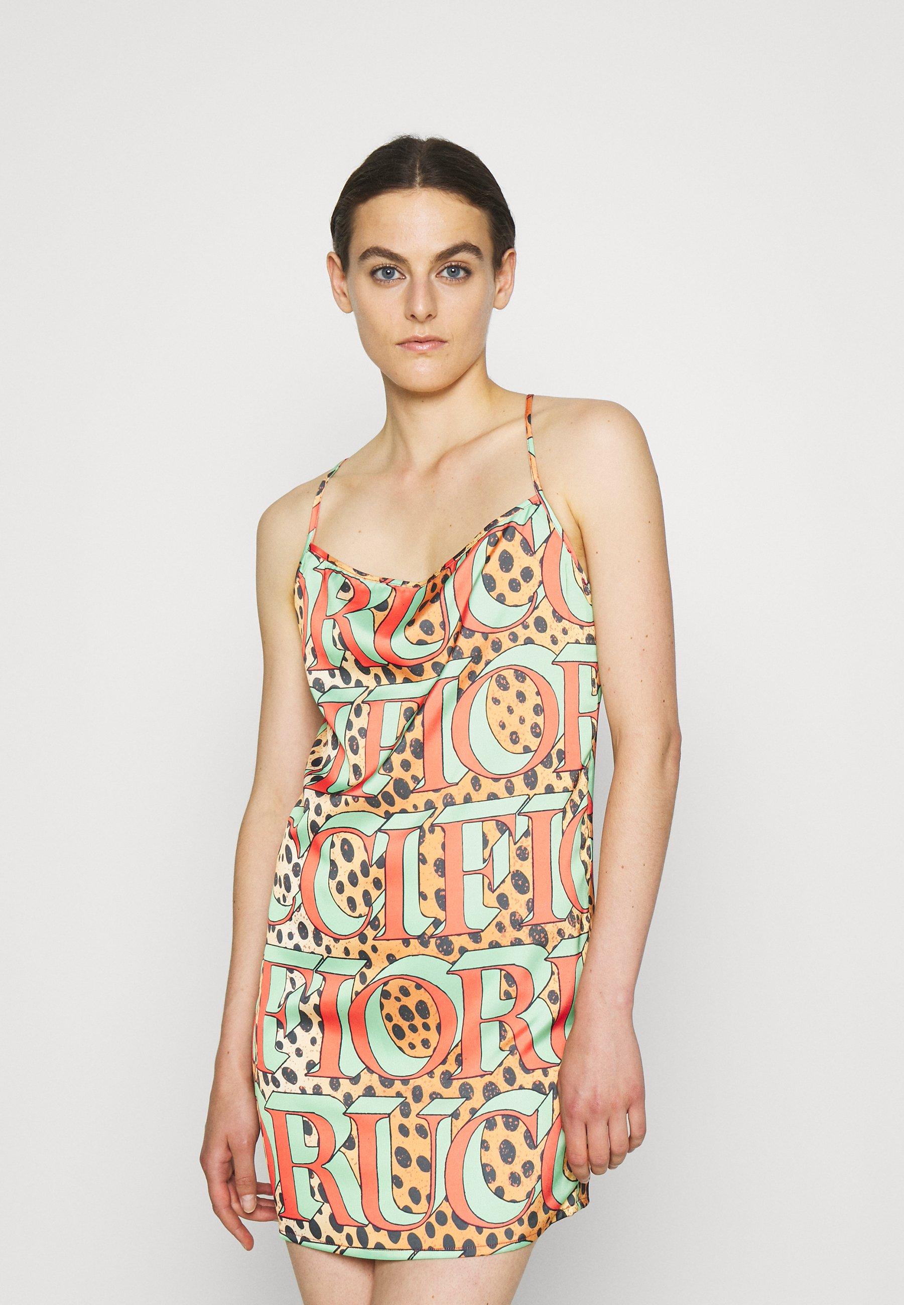 Women LEOPARD LOGO SLIP DRESS  - Day dress