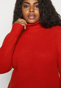 CAPSULE by Simply Be - ROLL NECK - Jumper - red - 6