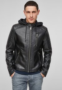 Q/S designed by - Faux leather jacket - black - 0