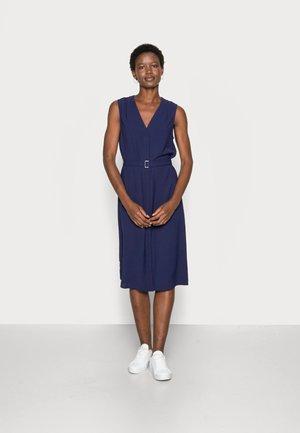 WOVEN TUNIC DRESS BUCKLE - Vardagsklänning - dark blue