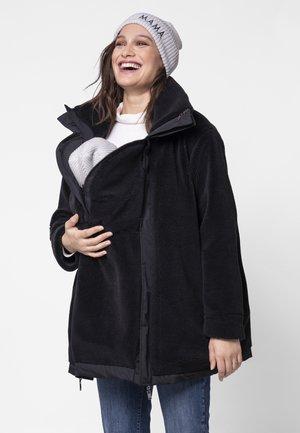 REVERSIBLE 3 IN 1  - Short coat - black