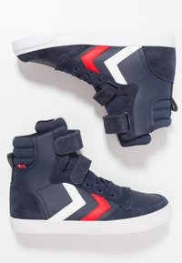 Hummel - SLIMMER STADIL - High-top trainers - peacoat - 0