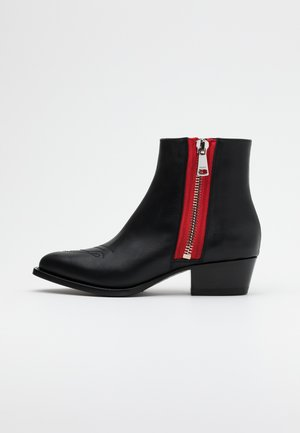 ISABEL LOW BOOTIE ZIP  - Kotníkové boty - black