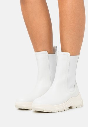 MAIA  - Platform ankle boots - offwhite