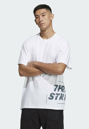 WORD T-SHIRT - T-Shirt print - white