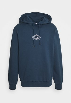 CASUAL HOODIE - Sweatshirt - faded navy/white