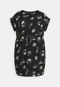 Vero Moda Curve - VMSIMPLY EASY TIE SHORT DRESS - Denní šaty - black/ann - 4