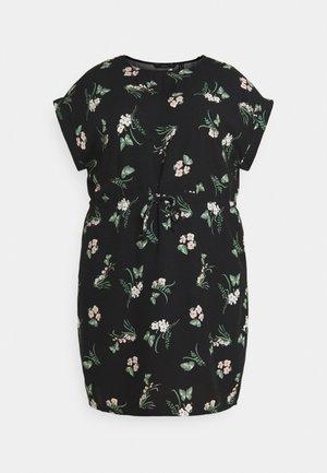 VMSIMPLY EASY TIE SHORT DRESS - Vapaa-ajan mekko - black/ann