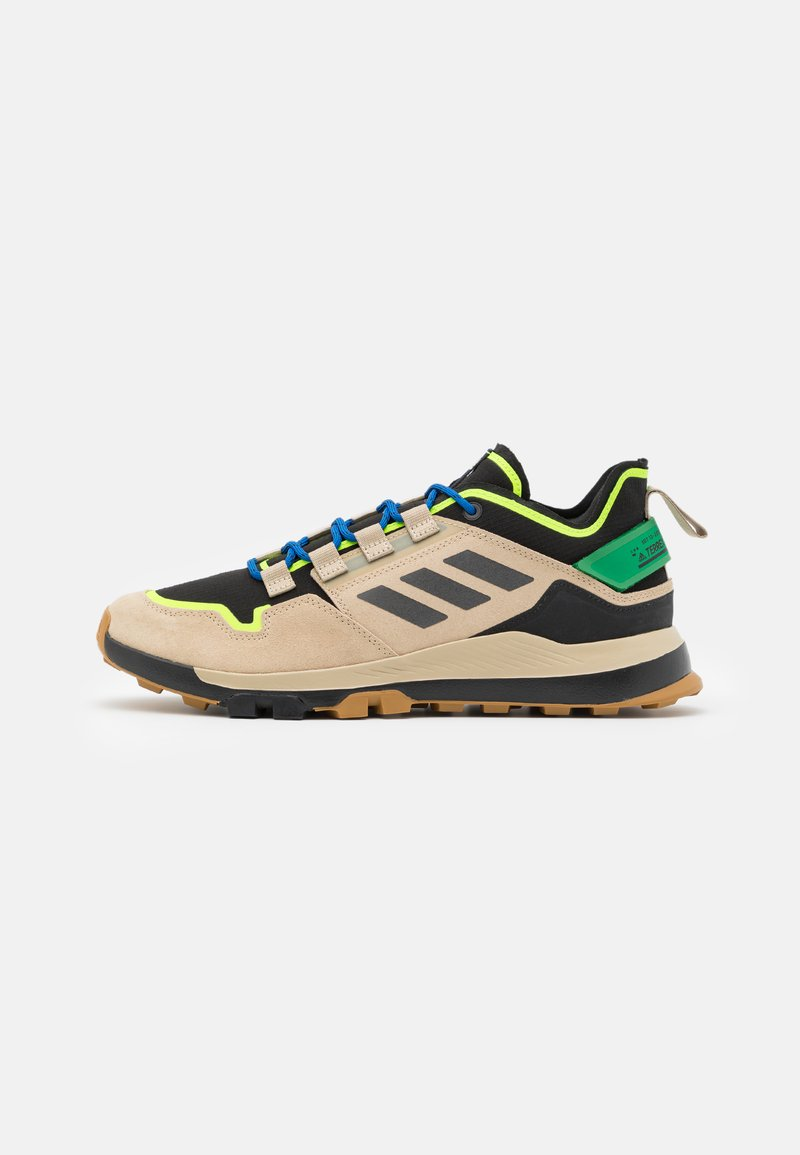 adidas Performance - TERREX HIKSTER LOW - Hiking shoes - savannah/core black/signal green
